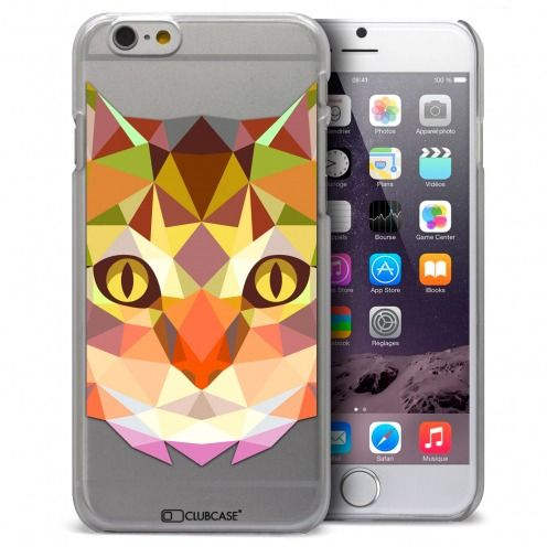 Coque Crystal iPhone 6 / 6s Extra Fine Polygon Animals - Chat