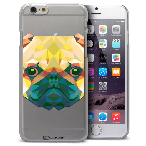 Coque Crystal iPhone 6 / 6s Extra Fine Polygon Animals - Chien
