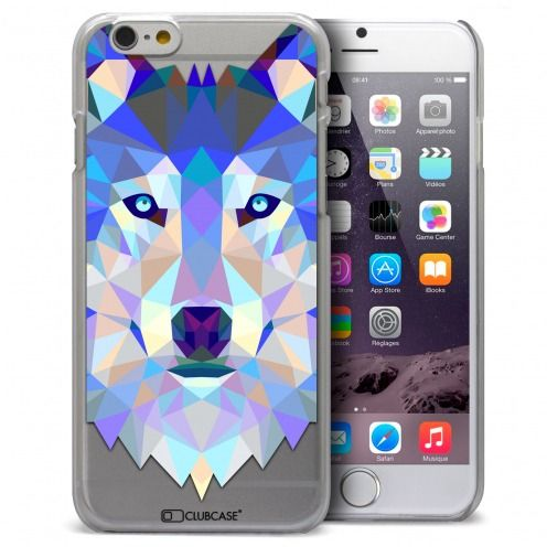 Coque Crystal iPhone 6 / 6s Extra Fine Polygon Animals - Loup