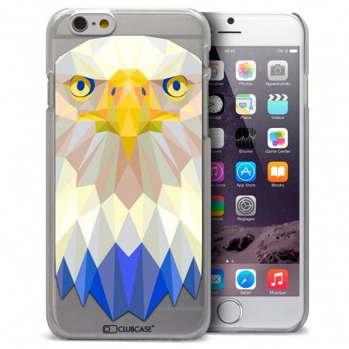 Coque Crystal iPhone 6 / 6s Extra Fine Polygon Animals - Aigle