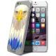 Vue complémentaire de Coque Crystal iPhone 6 Extra Fine Polygon Animals - Aigle