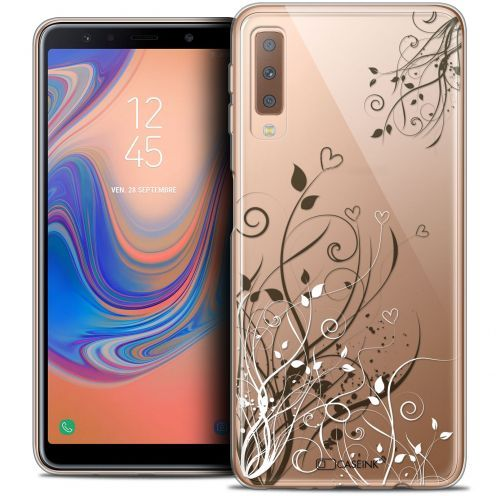 "Coque Crystal Gel Samsung Galaxy A7 (2018) A750 (6"") Extra Fine Love - Hearts Flowers"
