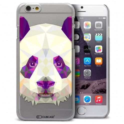 Coque Crystal iPhone 6 / 6s Extra Fine Polygon Animals - Panda