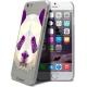 Vue complémentaire de Coque Crystal iPhone 6 Extra Fine Polygon Animals - Panda