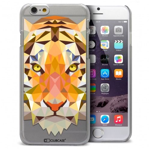 Coque Crystal iPhone 6 / 6s Extra Fine Polygon Animals - Tigre