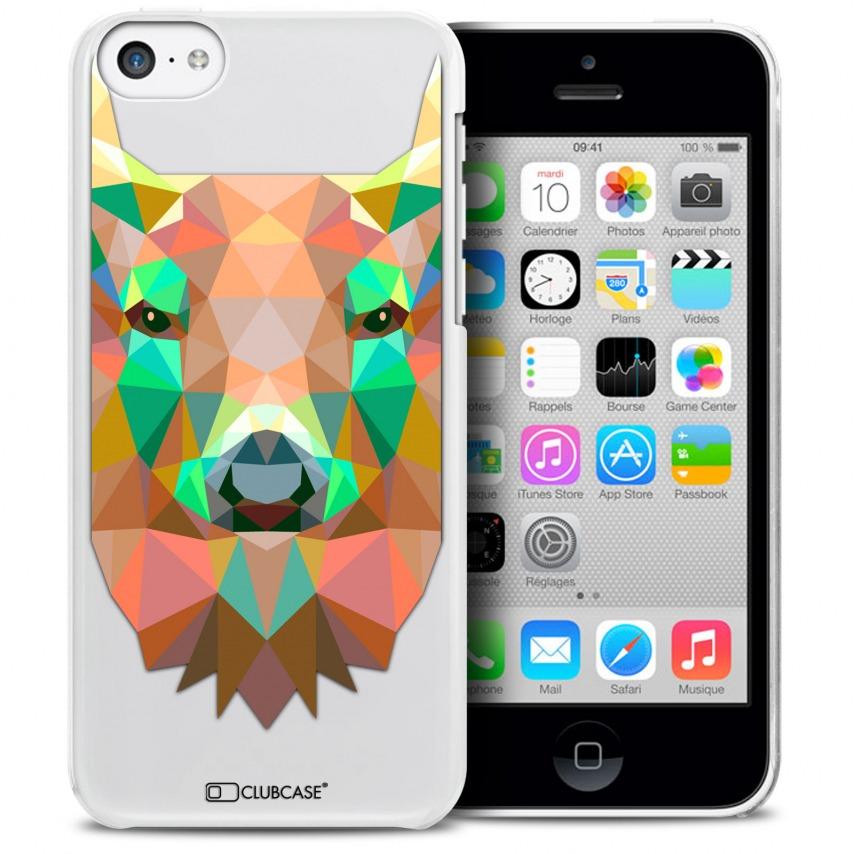 Vue détaillée de Coque Crystal iPhone 5C Extra Fine Polygon Animals - Cerf