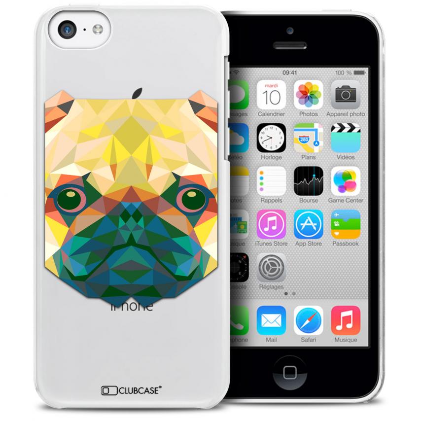 Vue détaillée de Coque Crystal iPhone 5C Extra Fine Polygon Animals - Chien