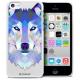 Vue détaillée de Coque Crystal iPhone 5C Extra Fine Polygon Animals - Loup