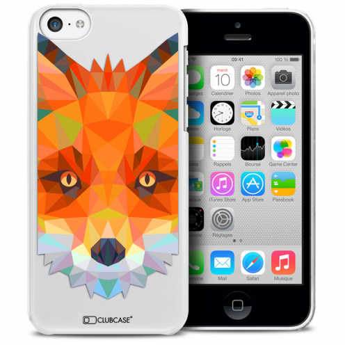 Coque Crystal iPhone 5C Extra Fine Polygon Animals - Renard