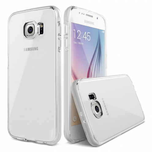 "Zoom sur Coque Souple ""Crystal Clear"" pour Samsung Galaxy S6"