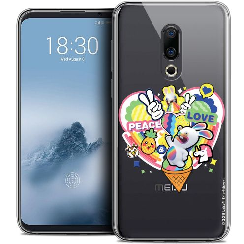 """Coque Gel Meizu 16 (6"""") Extra Fine Lapins Crétins™ - Peace And Love"""