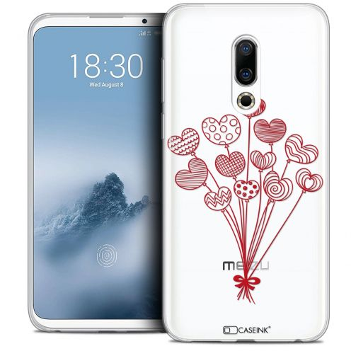 """Coque Crystal Gel Meizu 16 (6"""") Extra Fine Love - Ballons d'amour"""