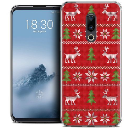 """Coque Crystal Gel Meizu 16 (6"""") Extra Fine Noël 2017 - Couture Rouge"""