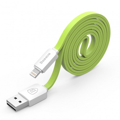Photo réelle de Câble USB à 8 Pins iOS8 1m Baseus® String Series - iPhone 6/6 Plus/5/S/C - Vert