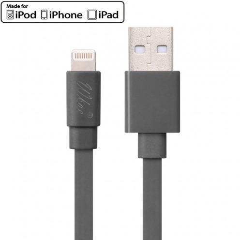Câble USB à Lightning 8 Pins 1m Wkae® Certifié MFI - iPhone 6/6 Plus/5/S/C - Gris
