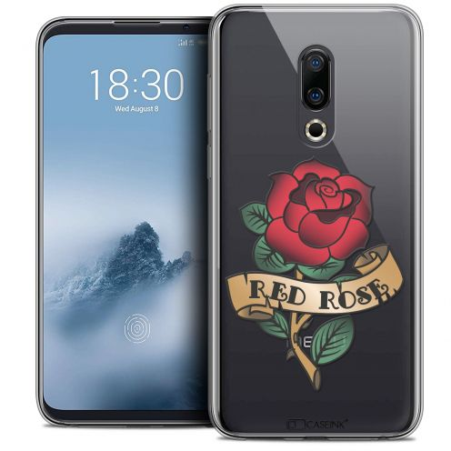 """Coque Crystal Gel Meizu 16 (6"""") Extra Fine Tatoo Lover - Red Rose"""