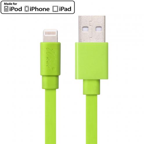 Visuel supplémentaire de Câble USB à Lightning 8 Pins 1m Wkae® Certifié MFI - iPhone 6/6 Plus/5/S/C - Vert