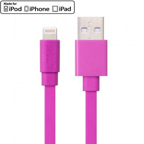 Câble USB à Lightning 8 Pins 1m Wkae® Certifié MFI - iPhone 6/6 Plus/5/S/C - Rose