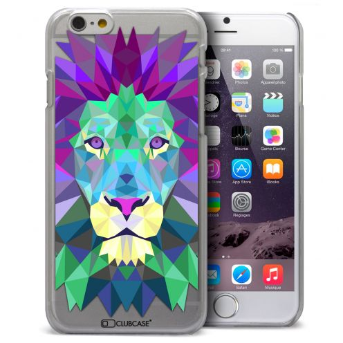 Coque Crystal iPhone 6 Plus Extra Fine Polygon Animals - Lion