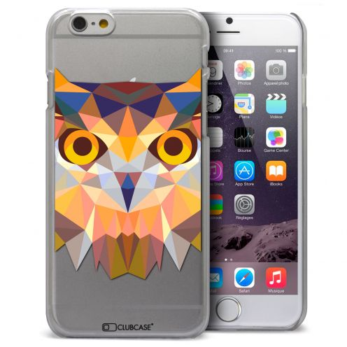 Coque Crystal iPhone 6 Plus Extra Fine Polygon Animals - Hibou