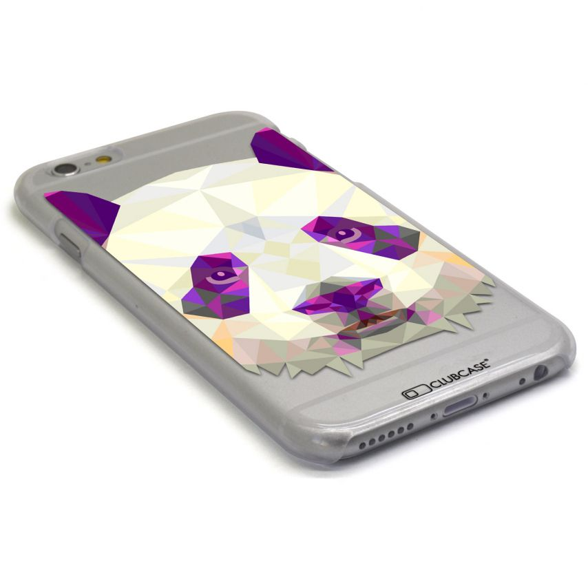 Vue portée de Coque Crystal iPhone 6 Extra Fine Polygon Animals - Panda
