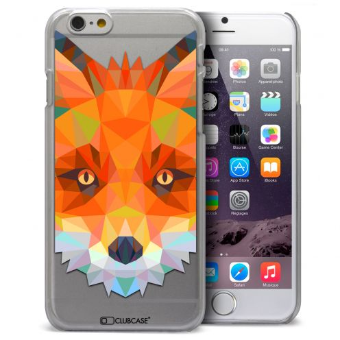 Coque Crystal iPhone 6 Plus Extra Fine Polygon Animals - Renard