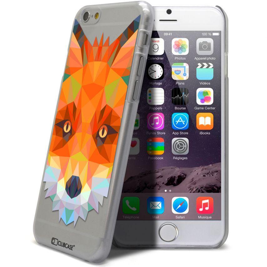 Vue complémentaire de Coque Crystal iPhone 6 Extra Fine Polygon Animals - Renard
