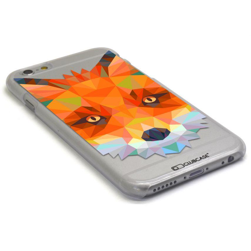 Vue portée de Coque Crystal iPhone 6 Extra Fine Polygon Animals - Renard