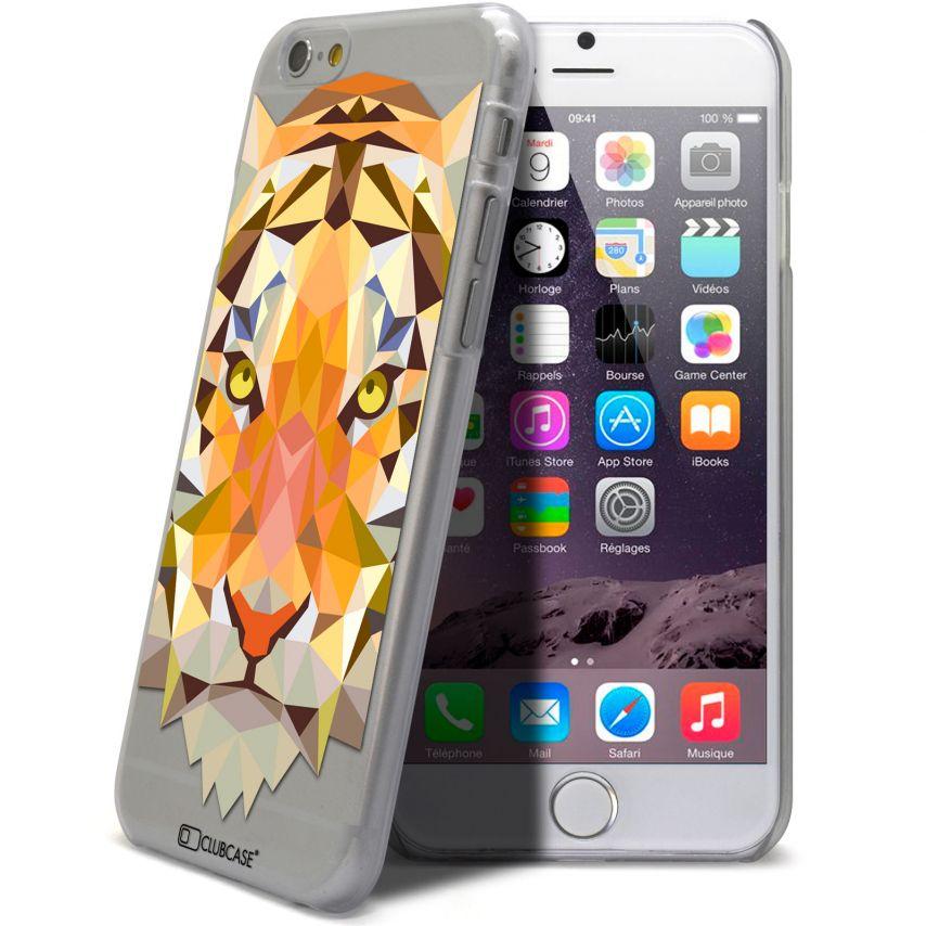 Vue complémentaire de Coque Crystal iPhone 6 Extra Fine Polygon Animals - Tigre