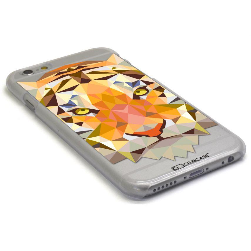 Vue portée de Coque Crystal iPhone 6 Extra Fine Polygon Animals - Tigre