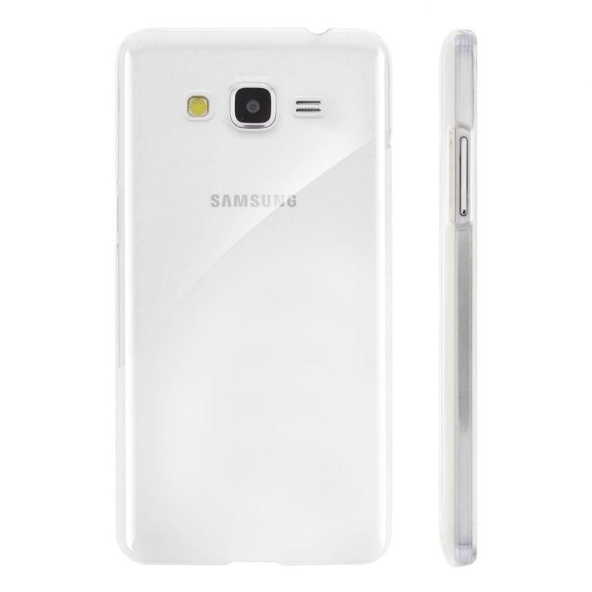 Vue complémentaire de Coque Samsung Galaxy Grand Prime Crystal Extra Fine Transparente