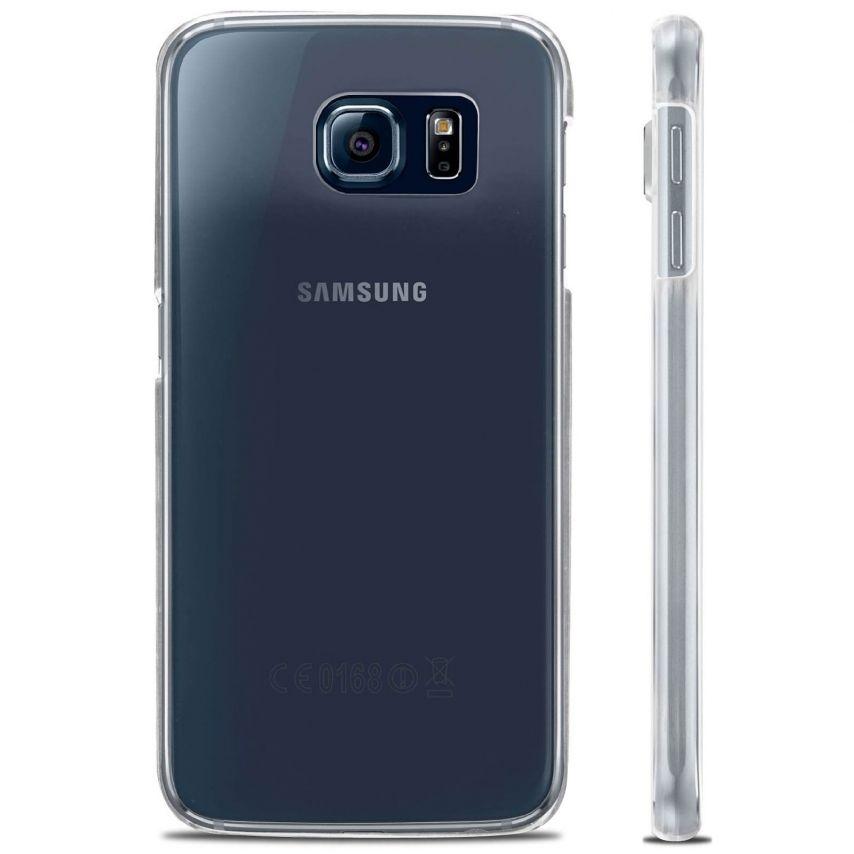 Vue complémentaire de Coque Samsung Galaxy S6 Crystal Extra Fine Transparente