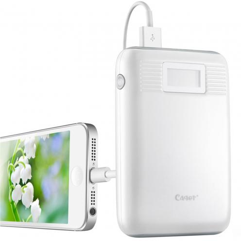 Vue Principale de Batterie Externe Cager® Power Bank B05 2.1A - 2xUSB - LCD - 10000mAh