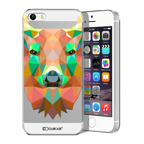 Zoom sur Coque Crystal iPhone 5/5S Extra Fine Polygon Animals - Cerf