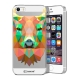 Zoom sur Coque Crystal iPhone 5/5S Extra Fine Polygon Animals - Cerf
