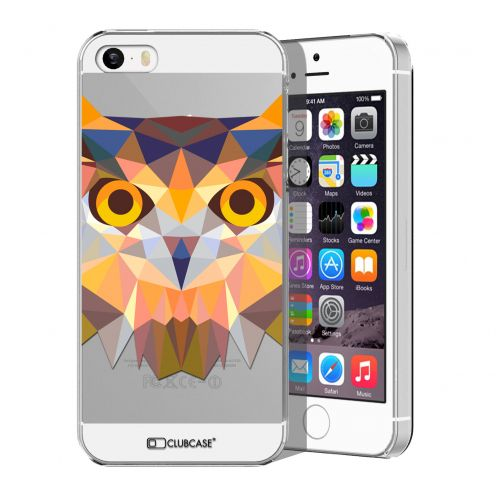 Zoom sur Coque Crystal iPhone 5/5S Extra Fine Polygon Animals - Hibou