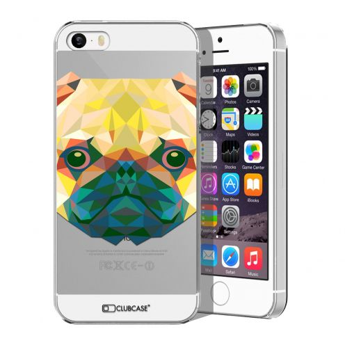 Zoom sur Coque Crystal iPhone 5/5S Extra Fine Polygon Animals - Chien