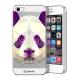 Zoom sur Coque Crystal iPhone 5/5S Extra Fine Polygon Animals - Panda
