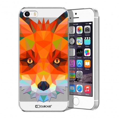 Zoom sur Coque Crystal iPhone 5/5S Extra Fine Polygon Animals - Renard