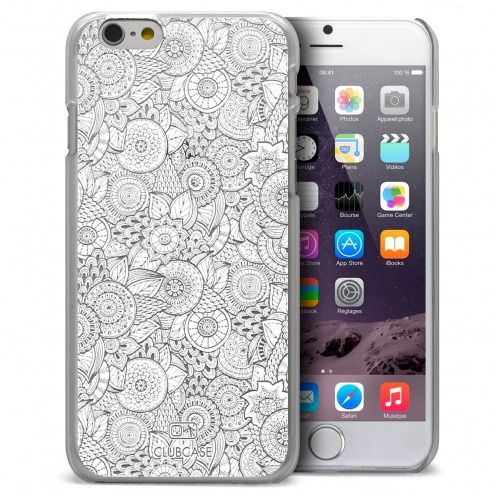 Zoom sur Coque Crystal iPhone 6 Plus Extra Fine Texture Dentelle Florale - Blanche