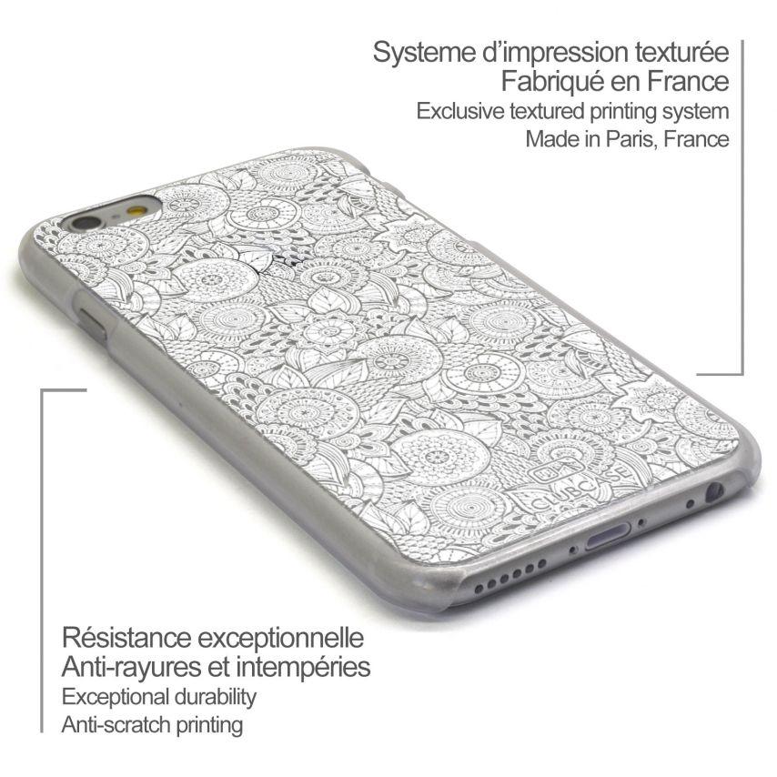 Visuel unique de Coque Crystal iPhone 6 Plus Extra Fine Texture Dentelle Florale - Blanche