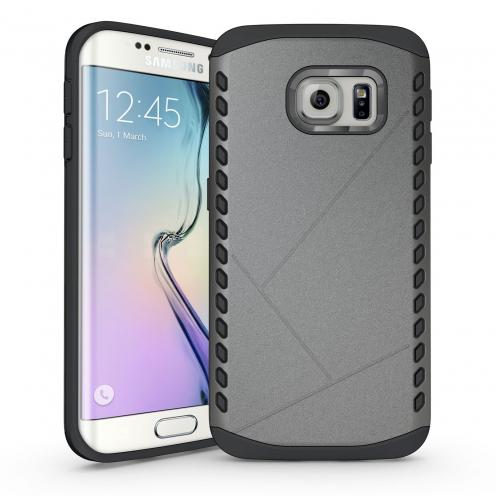 Coque Galaxy S6 Edge Antichoc Intégrale - Slim Shield Defender - Anthracite
