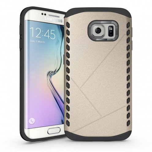 Coque Galaxy S6 Edge Antichoc Intégrale - Slim Shield Defender - Champagne