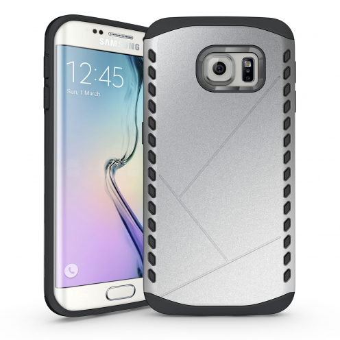 Coque Galaxy S6 Edge Antichoc Intégrale - Slim Shield Defender - Argent
