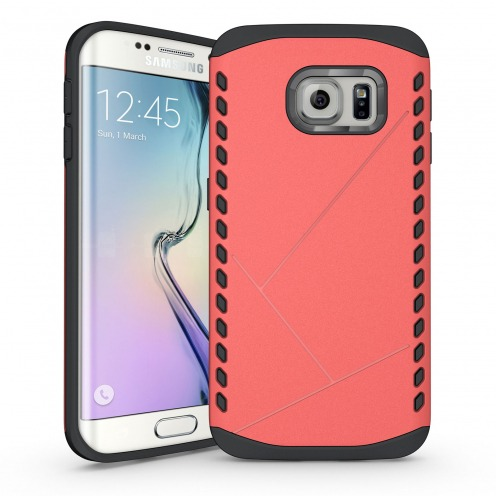 Coque Galaxy S6 Edge Antichoc Intégrale - Slim Shield Defender - Rouge