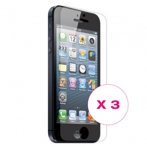 Films de protection iPhone 5 / 5S / SE Clubcase ® HQ Lot de 3