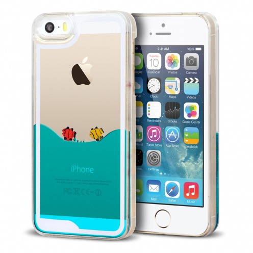 Coque Crystal Liquid Mer et Poissons iPhone 5/5S/SE