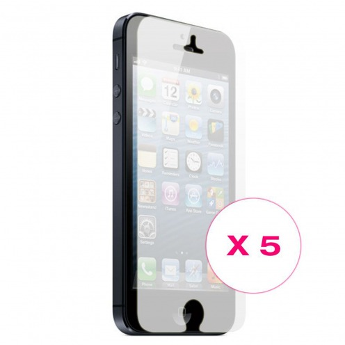 Films de protection iPhone 5 / 5S / SE Miroir Clubcase ® HQ Lot de 5