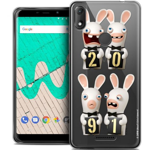 """Coque Gel Wiko View MAX (6"""") Extra Fine Lapins Crétins™ - New Year"""