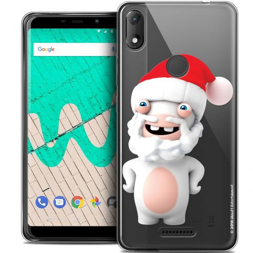 """Coque Gel Wiko View MAX (6"""") Extra Fine Lapins Crétins™ - Lapin Noël"""